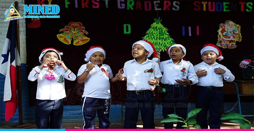 Niños De Primer Grado Demuestran Aprendizaje De Inglés Con Villancicos Navideño Mined